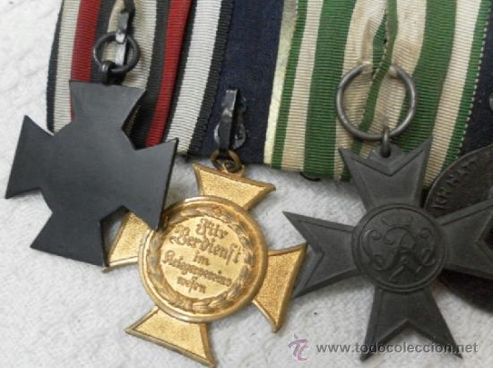 Militaria: Alemania. Pasador de 5 condecoraciones. - Foto 18 - 37726509