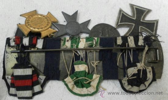 Militaria: Alemania. Pasador de 5 condecoraciones. - Foto 19 - 37726509