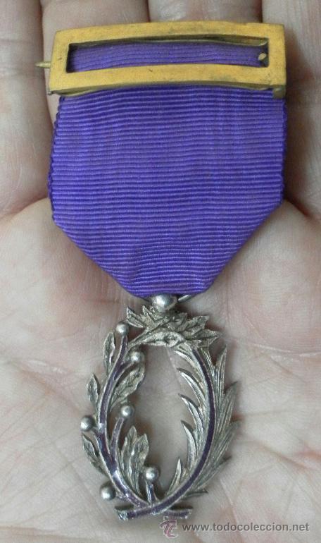 MEDALLA FRANCESA. PALMAS ACADÉMICAS. (Militar - Medallas Internacionales Originales)