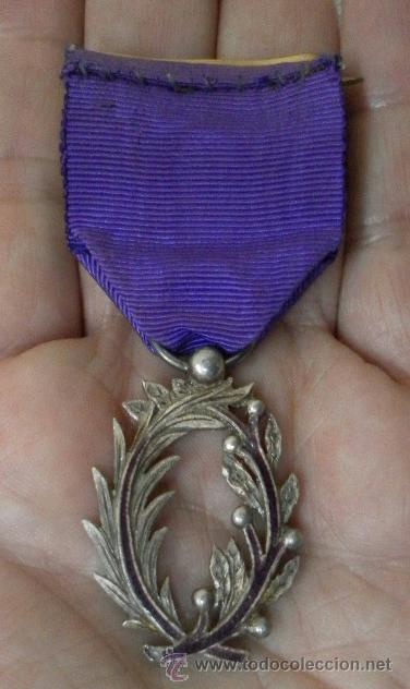 Militaria: Medalla francesa. Palmas académicas. - Foto 6 - 37806474