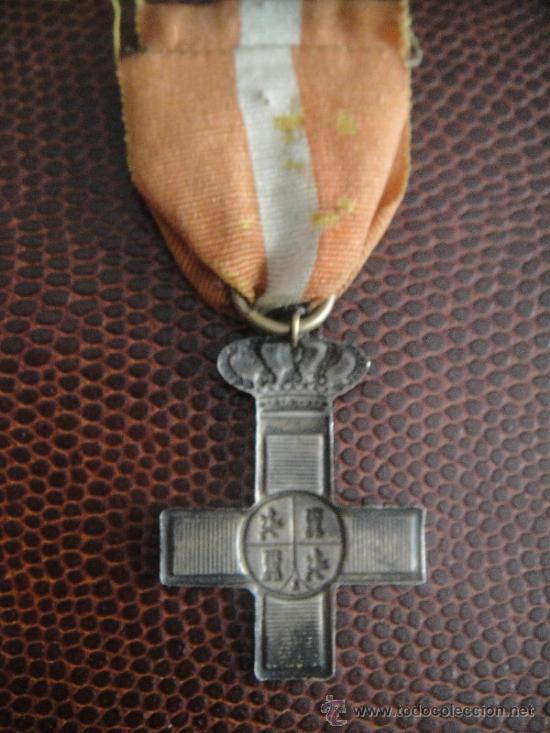 Militaria: Cruz de Plata al Mérito Militar . Gobierno Provisional 1868-1870 Cinta muy antigua - Foto 2 - 38360387