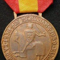 Militaria: MEDALLA ESPAÑOLA DE LOS VOLUNTARIOS DE VIZCAYA EN EL EJÉRCITO NACIONAL DURANTE LA GUERRA CIVIL. CON. Lote 89431982