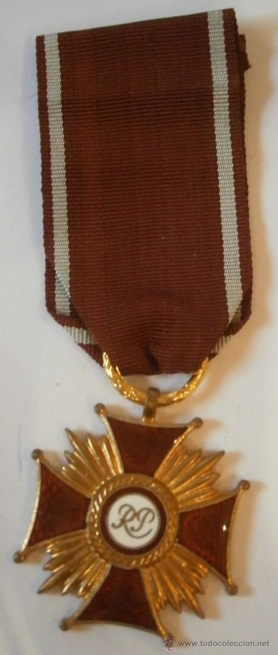 MEDALLA MÉRITO CIVIL, 1ª CLASE, POLONIA (Militar - Medallas Extranjeras Originales)