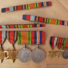 Militaria: PASADOR Y MINIATURAS BRITANICAS II GUERRA MUNDIAL. Lote 38913845