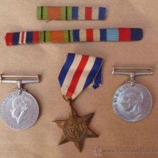 Militaria: MEDALLAS BRITANICAS II GUERRA MUNDIAL Y PASADORES DIARIO. Lote 38913857