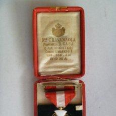Militaria: MEDALLA DE LA CORONA DE ITALIA , CONCEDIDA A MIEMBRO ESPAÑOL DE LA CORTE DE AMADEO DE SABOYA. Lote 39113367