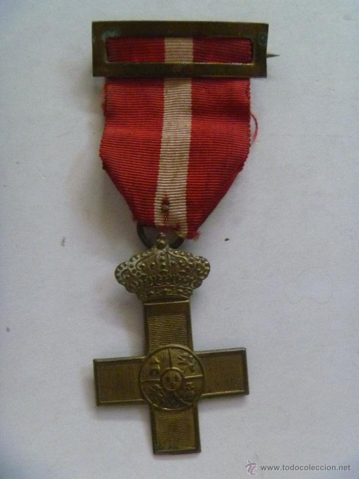 MEDALLA CRUZ DEL MERITO MILITAR DISTINTIVO ROJO DE TROPA. GUERRA CARLISTA , CUBA O DE AFRICA . (Militar - Medallas Españolas Originales )
