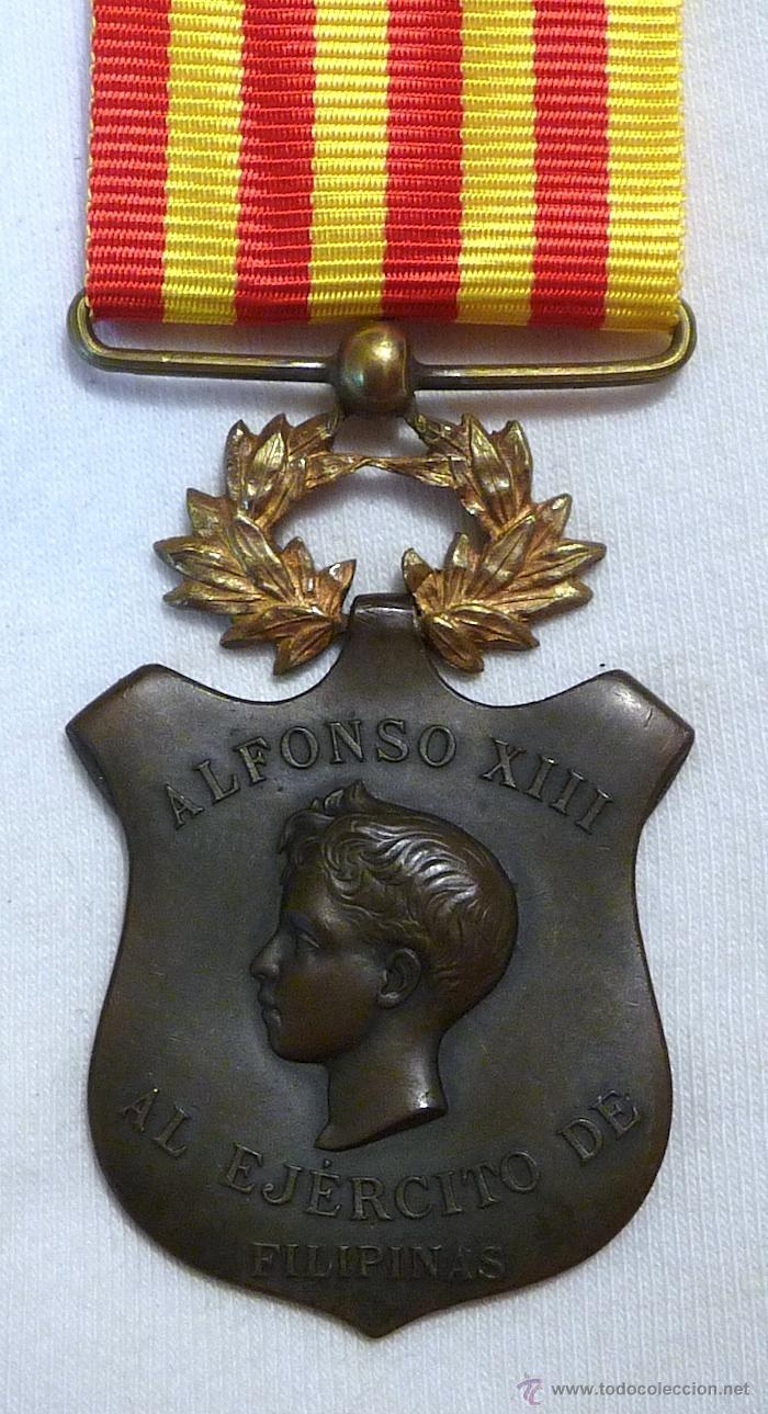 MEDALLA CAMPAÑA DE FILIPINAS 1896-1898 (Militar - Medallas Españolas Originales )