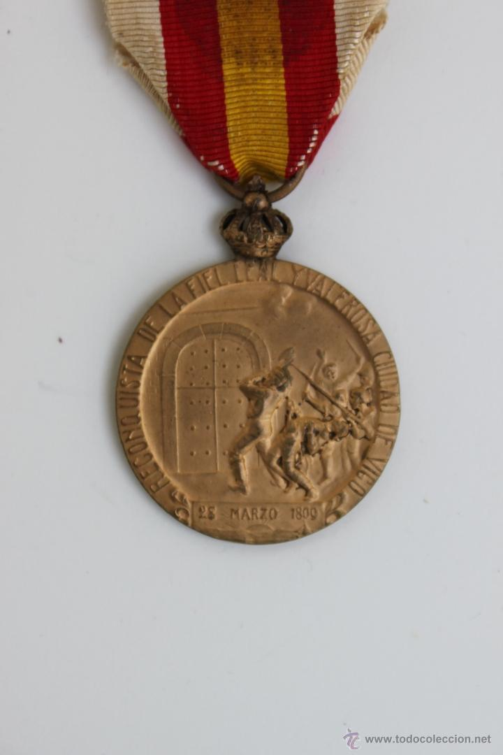 Militaria: MEDALLA CENTENARIO DE VIGO 1809 - 1909 - Foto 4 - 39447931