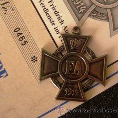 Militaria: CRUZ FEDERICO AUGUSTO DE 1º CLASE. GRAN DUCADO DE OLDENBURGO, ALEMANIA (1914). Lote 39679486