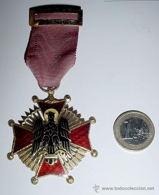 CRUZ DE CABALLERO - ORDEN DE CISNEROS 1944 - FRANCO - ESMALTADA AL FUEGO, MUY BONITA. GALARDÓN AL MÉ (Militar - Medallas Españolas Originales )