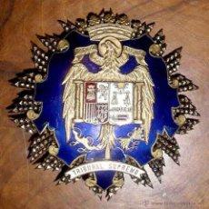 Militaria: ANTIGUA PLACA DE MAGISTRADO DE LA SALA DE LO MILITAR DEL TRIBUNAL SUPREMO - ESMALTES Y PLATA .- EPOC. Lote 38250420