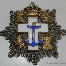 Militaria: PLACA DEL MERITO NAVAL CON DISTINTIVO BLANCO. PLATA Y ESMALTES. . EXCELENTES LOS ESMA. Lote 38271806