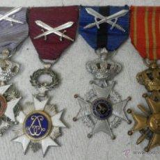 Militaria: BÉLGICA. PASADOR CON CUATRO CONDECORACIONES. . Lote 40384248