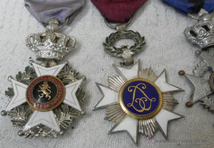 Militaria: Bélgica. Pasador con cuatro condecoraciones. - Foto 5 - 40384248