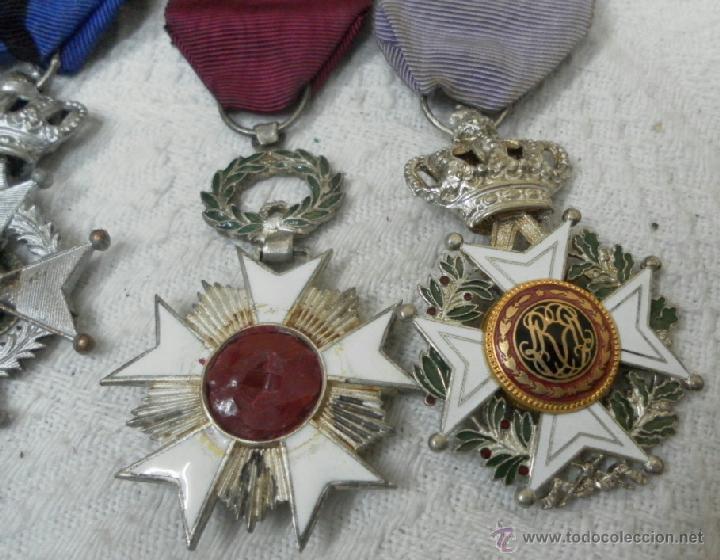 Militaria: Bélgica. Pasador con cuatro condecoraciones. - Foto 8 - 40384248
