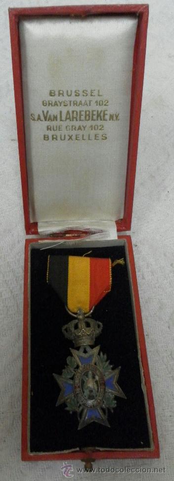 BÉLGICA. MEDALLA A CATALOGAR. EN SU CAJA. (Militar - Medallas Internacionales Originales)
