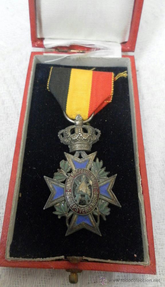 Militaria: Bélgica. Medalla a catalogar. En su caja. - Foto 2 - 40384347