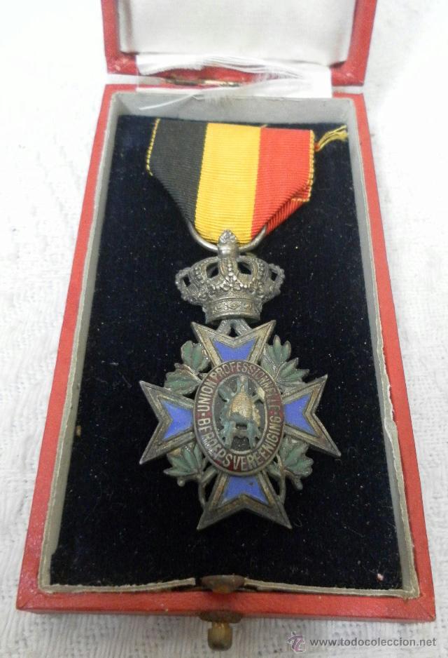 Militaria: Bélgica. Medalla a catalogar. En su caja. - Foto 3 - 40384347
