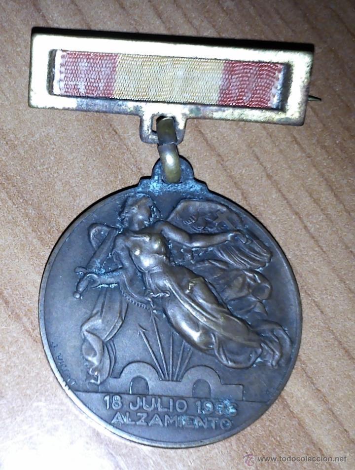 MEDALLA ALZAMIENTO. (Militar - Medallas Españolas Originales )