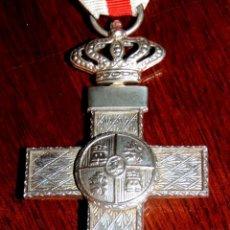 Militaria: CRUZ DE PLATA CON DISTINTIVO BLANCO AL MERITO MILITAR 1977 - 1995, EXCELENTE ESTADO DE CONSERVACION,. Lote 40849697