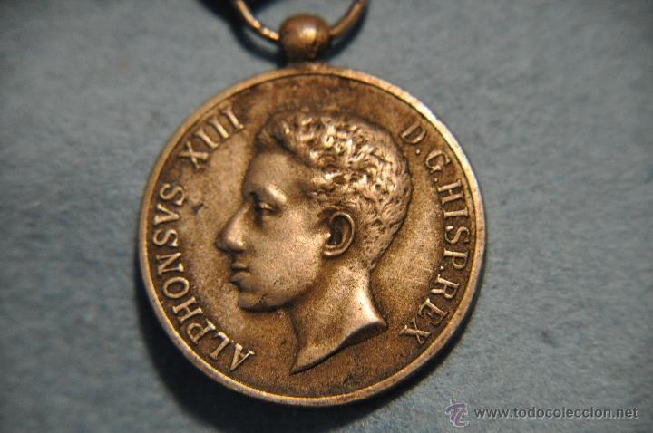 MEDALLA ALFONSO XIII CAT. PLATA. (Militar - Medallas Españolas Originales )