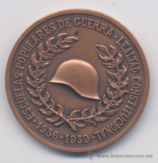 ESCUELAS POPULARES DE GUERRA (Militar - Medallas Españolas Originales )