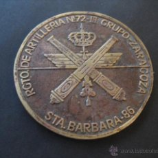 Militaria: MEDALLA BRONCE. SANTA BARBARA 86. REGIMIENTO ARTILLERIA Nº 72 - III GRUPO. ZARAGOZA. Lote 42184020