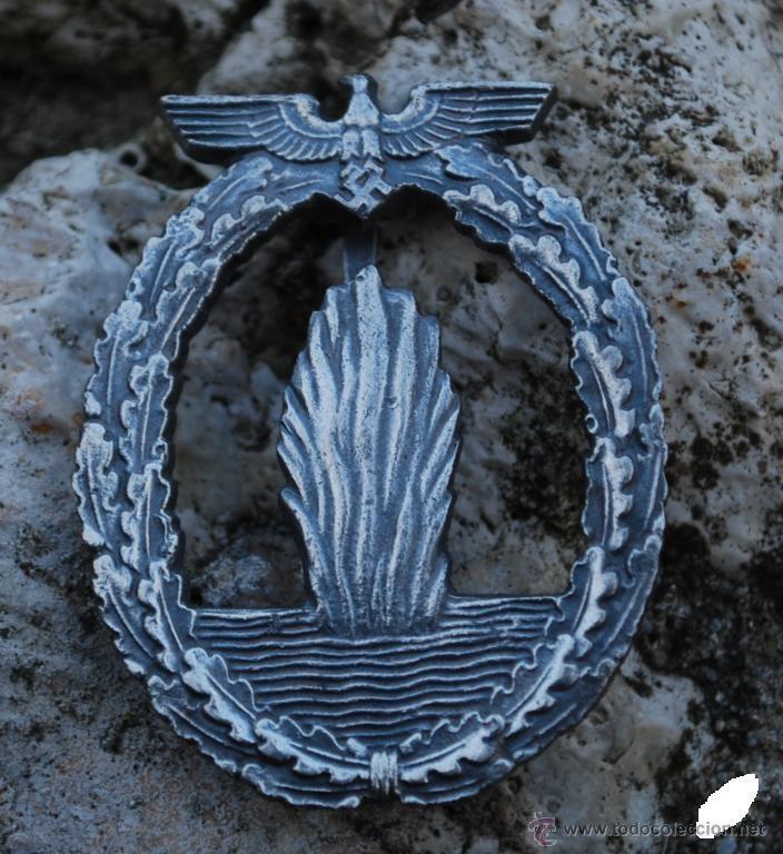 INSIGNIA KRIESGMARINE SUBMARINO + DECRETO (Militar - Reproducciones y Réplicas de Medallas )