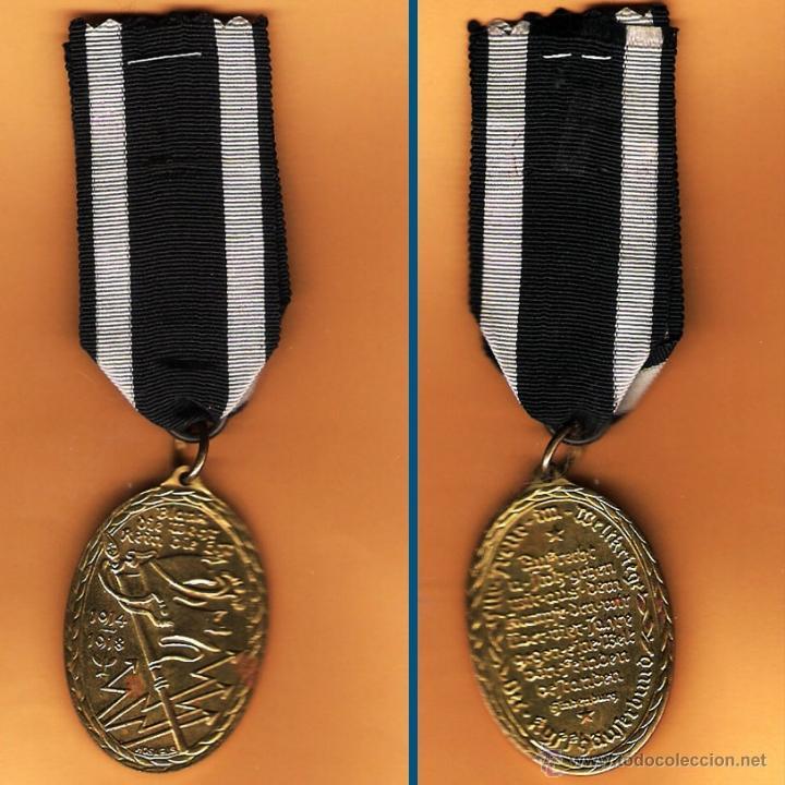 ALEMANIA.- MEDALLA MILITAR I GUERRA MUNDIAL 1914-1918 AL SERVICIO KYFFHÄVFERBUND. COLOR LATON. (Militar - Medallas Extranjeras Originales)