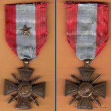 Militaria: FRANCIA.- MEDALLA CONDECORACION II GUERRA MUNDIAL - CRUZ DE GUERRA Y OPERACIONES EXTERIORES. BRONCE.. Lote 41534012