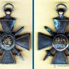 Militaria: FRANCIA -MEDALLA CONDECORACIÓN I GUERRA MUNDIAL 1914 -1918 DE CRUZ DE GUERRA. SIN CINTA. Lote 41538990