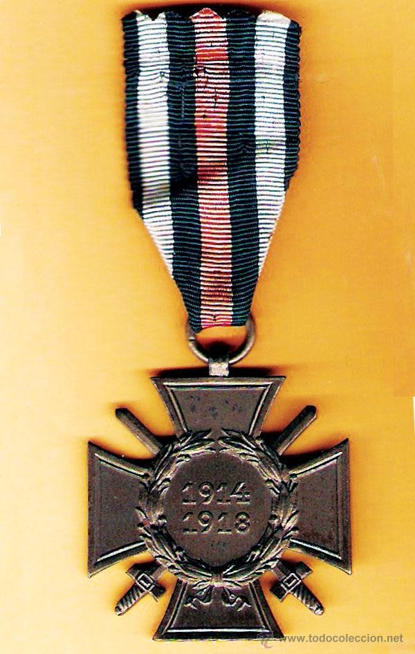 ALEMANIA.- MEDALLA CRUZ DE HINDENBURG,CONDECORACION CRUZ DE HONOR CON ESPADAS,LA I GUERRA M.1914-18 (Militar - Medallas Internacionales Originales)