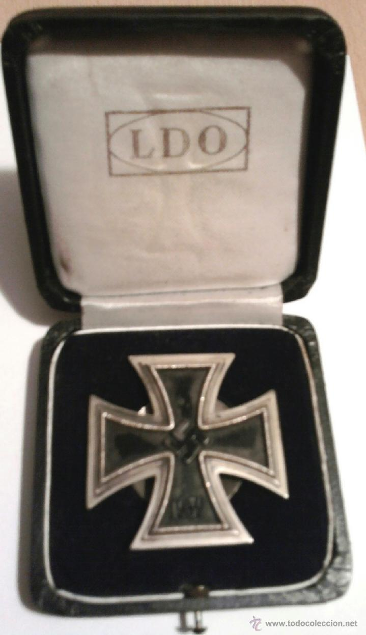 III REICH,CRUZ DE HIERRO 1ª CLASE L/58 ORIGINAL CON CAJA LDO,ROSCA,EPOCA DIVISION AZUL (Militar - Medallas Internacionales Originales)