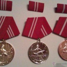 Militaria: 3 MEDALLAS MILITARES CONDECORACIONES AL TRABAJO FIEL EN COMBATE EN LA ALEMANIA DEL ESTE DDR. Lote 41658183