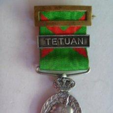 Militaria: GUERRA AFRICA : MEDALLA CAMPAÑA MARRUECOS OFICIALES EN PLATA Y PASADOR TETUAN .. Lote 42112817