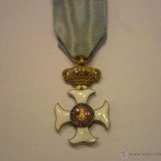Militaria: ORDEN MARIA ISABEL LUISA 1833-CRUZ DE OFICIAL, METAL ESMALTADO Y DORADO, CON SU CINTA ORIGINAL. Lote 42188414