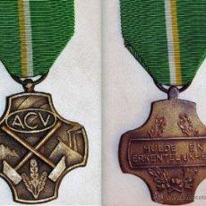 Militaria: BÉLGICA , MEDALLA DE BRONCE 1904 DE LA CONFEDERACIÓN DE SINDICATOS CRISTIANOS ACV. Lote 42741982