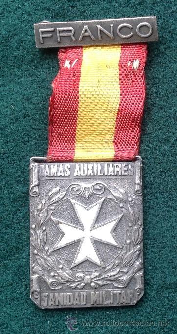 MEDALLA DE LAS DAMAS AUXILIARES DE SANIDAD MILITAR (Militar - Medallas Españolas Originales )