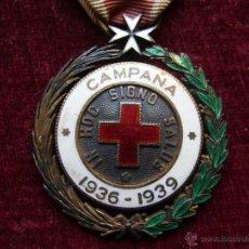 Militaria: MEDALLA DE PLATA DE LA CRUZ ROJA CAMPAÑA 1936 1939 PRENDEDOR VANGUARDIA. GUERRA CIVIL ESPAÑOLA. Lote 43268754