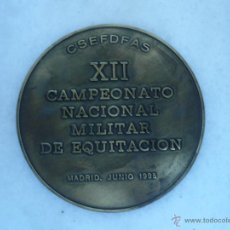 Militaria: MEDALLA DE BRONCE. CAMPEONATO NACIONAL MILITAR DE EQUITACIÓN 1995. Lote 43446305