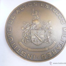 Militaria: MEDALLA DE BRONCE INSTITUTO DE ALTOS ESTUDOS MILITARES LISBOA. Lote 43832563
