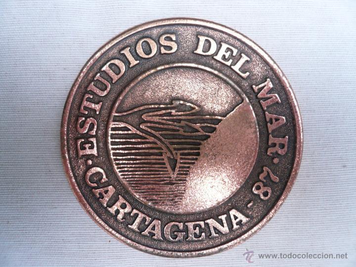 MEDALLA DE BRONCE ESTUDIOS DEL MAR 87 - CARTAGENA (Militar - Medallas Españolas Originales )