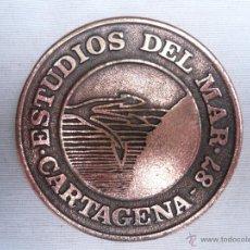 Militaria: MEDALLA DE BRONCE ESTUDIOS DEL MAR 87 - CARTAGENA. Lote 43833628