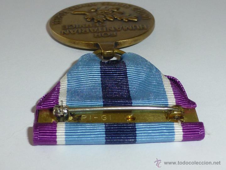 Militaria: Medalla militar estadounidense por Servicio Humanitario - Foto 2 - 43848848
