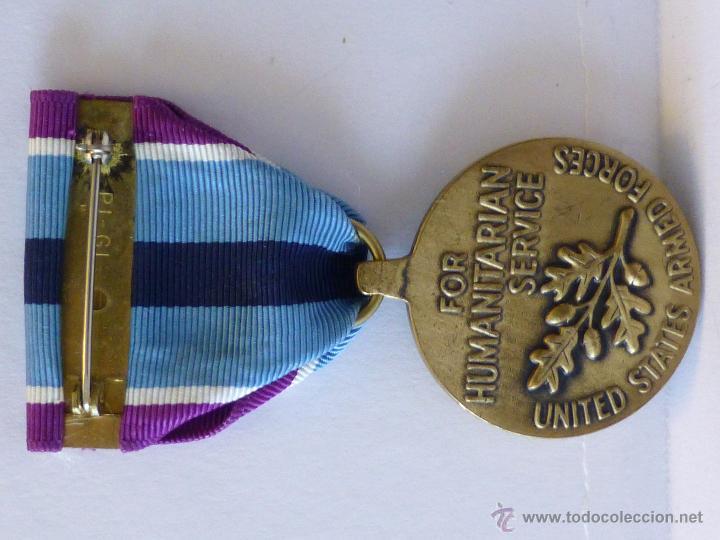 Militaria: Medalla militar estadounidense por Servicio Humanitario - Foto 6 - 43848848