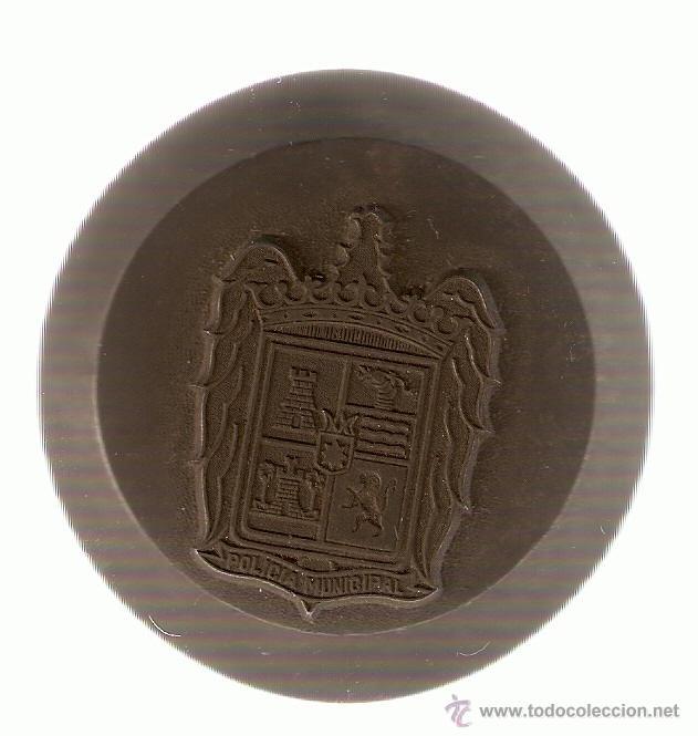TROQUEL DE ACERO FORJADO AL TEMPLE PLACA POLICIA MUNICIPAL-EPOCA DE FRANCO (Militar - Medallas Españolas Originales )