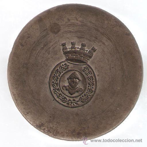 TROQUEL DE ACERO FORJADO AL TEMPLE INSIGNIA CON CORONA REPUBLICA (Militar - Medallas Españolas Originales )