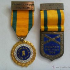 Militaria: GUERRA CIVIL : MEDALLAS SUFRIMIENTOS POR LA PATRIA Y MUTILADO , FRENTE DE ARAGON 1938. Lote 44006369