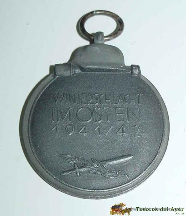 Militaria: MEDALLA DE INVIERNO DE LA DIVISION AZUL, Medalla del 1º invierno en el frente ruso, comunmente conoc - Foto 2 - 38255373
